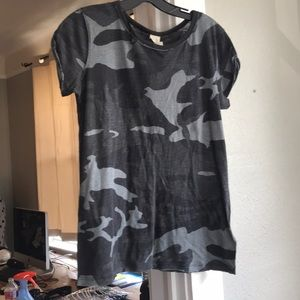 Free people camo t-shirt